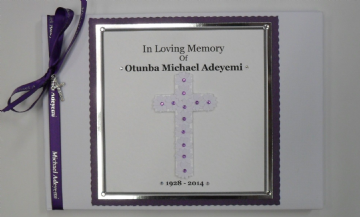Condolence Book ~ Purple
